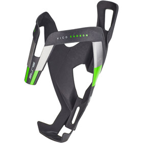 Elite Vico Flaskeholder Carbon, black matte/green design